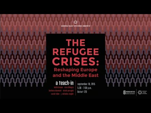 """""""The Refugee Crises: Reshaping Europe and the Middle East"""" – A Teach-In"""