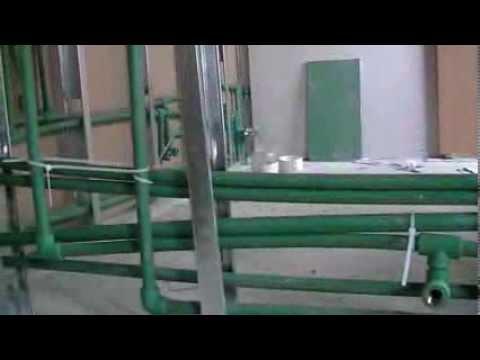 Instalaci n de agua en termo fusi n youtube - Instalacion de pladur en paredes ...
