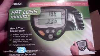 TRYING OUT AN OMRON BODY FAT MONITOR