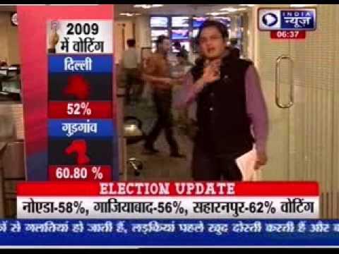 Delhi voting percentage touches 60.1 %, surpasses 2009 figure