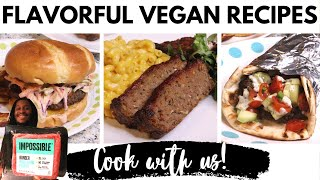 NEW IMPOSSIBLE BURGER recipes: VEGAN Oxtail burger, meatloaf & gyro   Plant-based ground beef Review