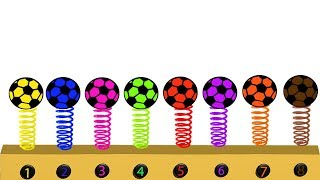 Learn Colors With Soccer Ball For Kids || Soccer Ball || Cartoon Video For Children