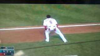 Billy hamilton gets robbed of a 4 bagger