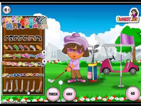 Dora l 39 exploratrice dora jeu golf habillage jeux de b b youtube - Jeux de dora golf ...