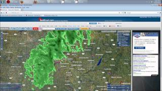 10/28/2011 -- Tornadic cells damaging wind over St. Louis, MO @ HAARP ring epicenter