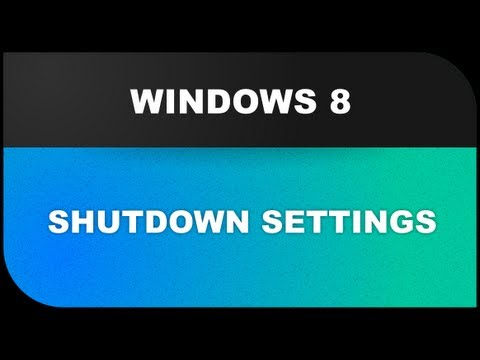 Windows 8 Tutorials: Shutdown Settings - hibernate, sleep, restart and more Lesson 14 - YouTube