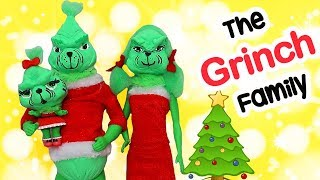 SWTAD LOL Families ! The Grinch Family Gets a Christmas Tree | Toys and Dolls Pretend Play for Kids