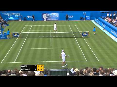 Andy Roddick vs. Feliciano Lopez at Queens 2011 R2 (HD)