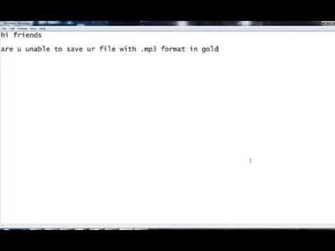 Goldwave - Error occurs when saving an MP3 file in GoldWave