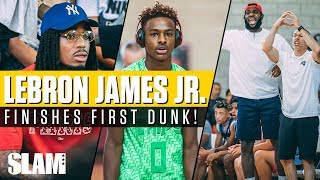 Bronny James finishes FIRST DUNK in front of Quavo, DWade and CP3! Chips win Las Vegas Classic 🏆