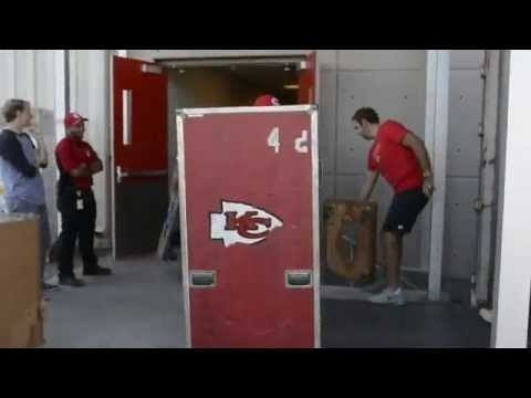 Kansas City Chiefs pack and prepare for 2014 training camp in St. Joseph