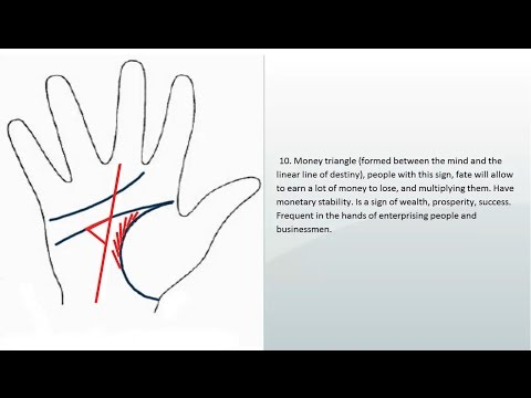 Palmistry, money lines, signs of money | signs money line money, power, fame |