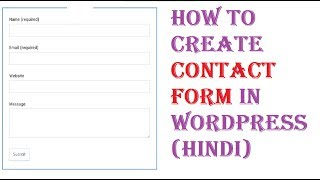 Create a Contact us Form page in Wordpress, ninja form contact plugin