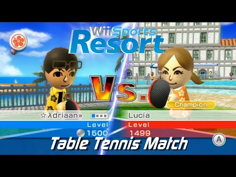 (HD) Wii Sports Resort - (5) Table Tennis Match: vs Champion Lucia + All Stamps