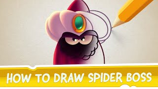 How to Draw Spider Boss from Cut the Rope: Magic
