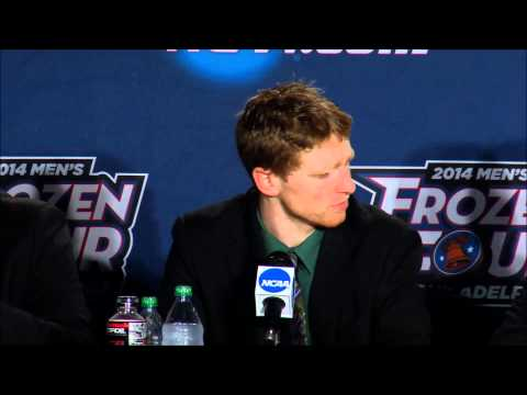 Union Men's Ice Hockey Frozen Four vs. BC Post Game Press Conference 4.10.14