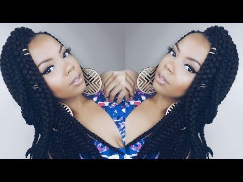 HOW TO   QUICK POETIC JUSTICE INSPIRED BRAIDS ft. OUTRE 3D BRAID ! #CROCHETBRAIDS