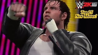 WWE 2K16 Top 25 NEW Moves! (Released So Far)
