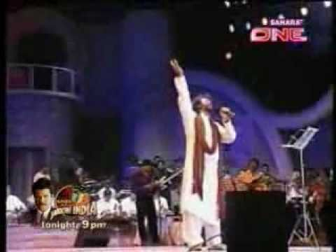 Hans Raj Hans sings yara sili sili at Lata Jis 75th birthday