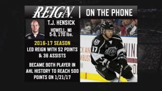 Welcome Back T.J. Hensick - 7/28/17