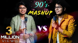 Hit Songs Of 90's Bollywood Mashup | RAHUL DUTTA Ft. Crostec | SING OFF vs. MYSELF | 90's Medley