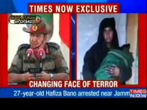 Women Islamic Terrorist in Jummu and  Kashmir in india Caught.flv
