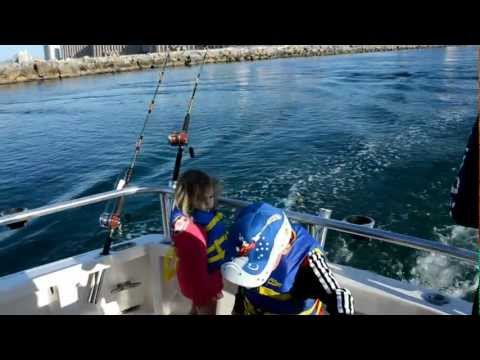 Trolling for Spanish Mackerel while fishing in Orange Beach Alabama