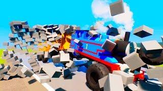 Lego Thomas Monster Train Vs Wall - Thomas and Friend - Stop Lego Train - Brig Rigs