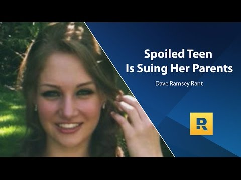"Dave's rant on the ""spoiled"" teen who is suing her parents"