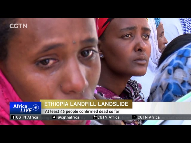 Scores killed in landslide at rubbish dump in Ethiopia