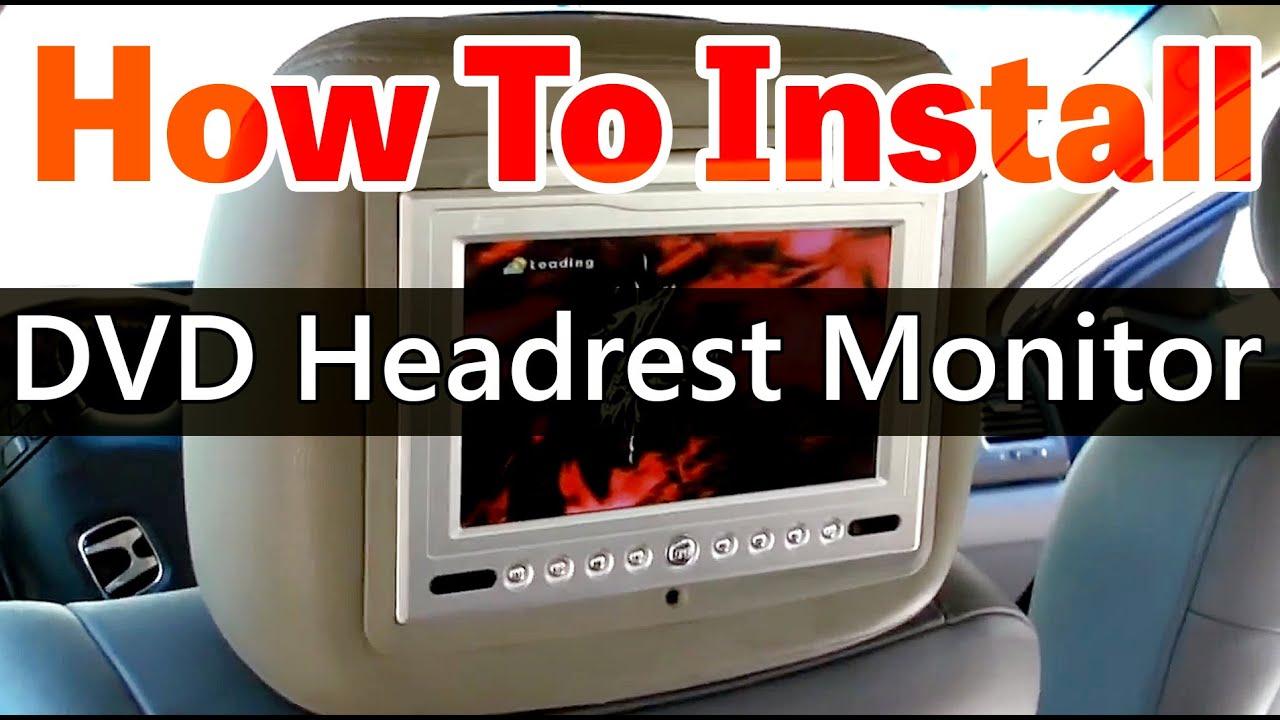 Dvd headrest monitor installation video hd www qualit doovi