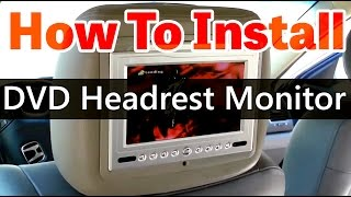 DVD Headrest monitor installation video HD - www.qualitymobilevideo.com