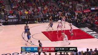 Klay Thompson All Game Actions 05/18/19 Warriors vs Blazers Game 3 Highlights