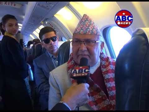 नेपाली टेलिभिजनको इतिहासमा पहिलो हवाई अन्तरवार्ता केपी शर्मा ओलीसँग