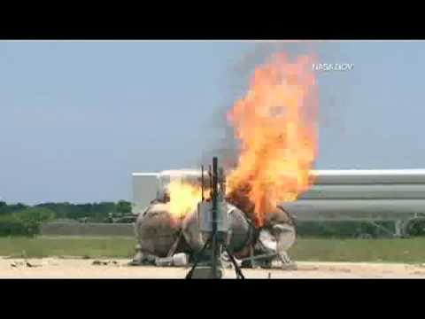 NASA: Morpheus rocket freeflight crash and explosion [HD]