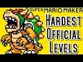 Super Mario Maker TOP 3 HARDEST Official Courses (Wii U)