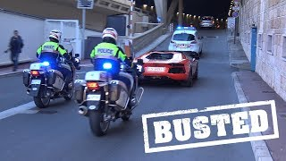 Lamborghini Aventador Pulled over by Police in Monaco!