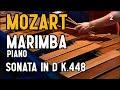 Mozart for marimba & piano (Sonata for Two Pianos in D - K448 - Molto Allegro)