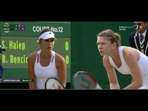 Simona Halep (ROU) vs Belinda Bencic (SUI) - WIMBLEDON 2014 (3rd round)