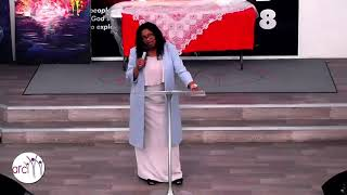 Margaret Bankole speaking at the ARC church 14/10/18