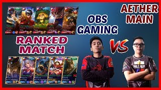 Z4pnu Obs Gaming & ᴁ   666 Aether Main Rivalry Goes To Ranked Game! - Mobile Legends