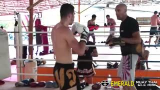 Eddy Nait Slimani(K1 pro fighter) training at Emerald Muay Thai and MMA gym.