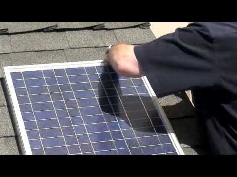 SOLAR PANEL INSTALL SHINGLE ROOF LED LIGHTING FREE POWER FREE ENERGY PART 3