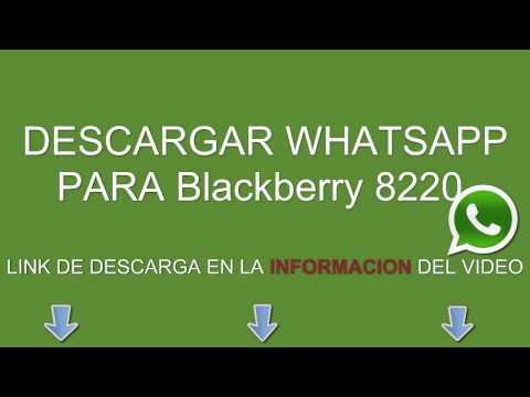Descargar e instalar whatsapp para: Blackberry 8220 gratis