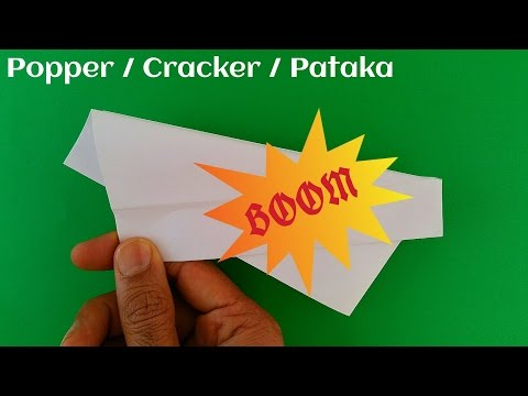 """Action Fun Origami - Paper """"Popper/Cracker/Pataka"""" (Loud and Easy)-Diwali Special-Method 1"""