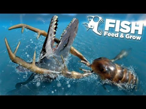 GIANTS SEA SCORPION EATS THE MOSASAUR!!! - Fish Feed Grow