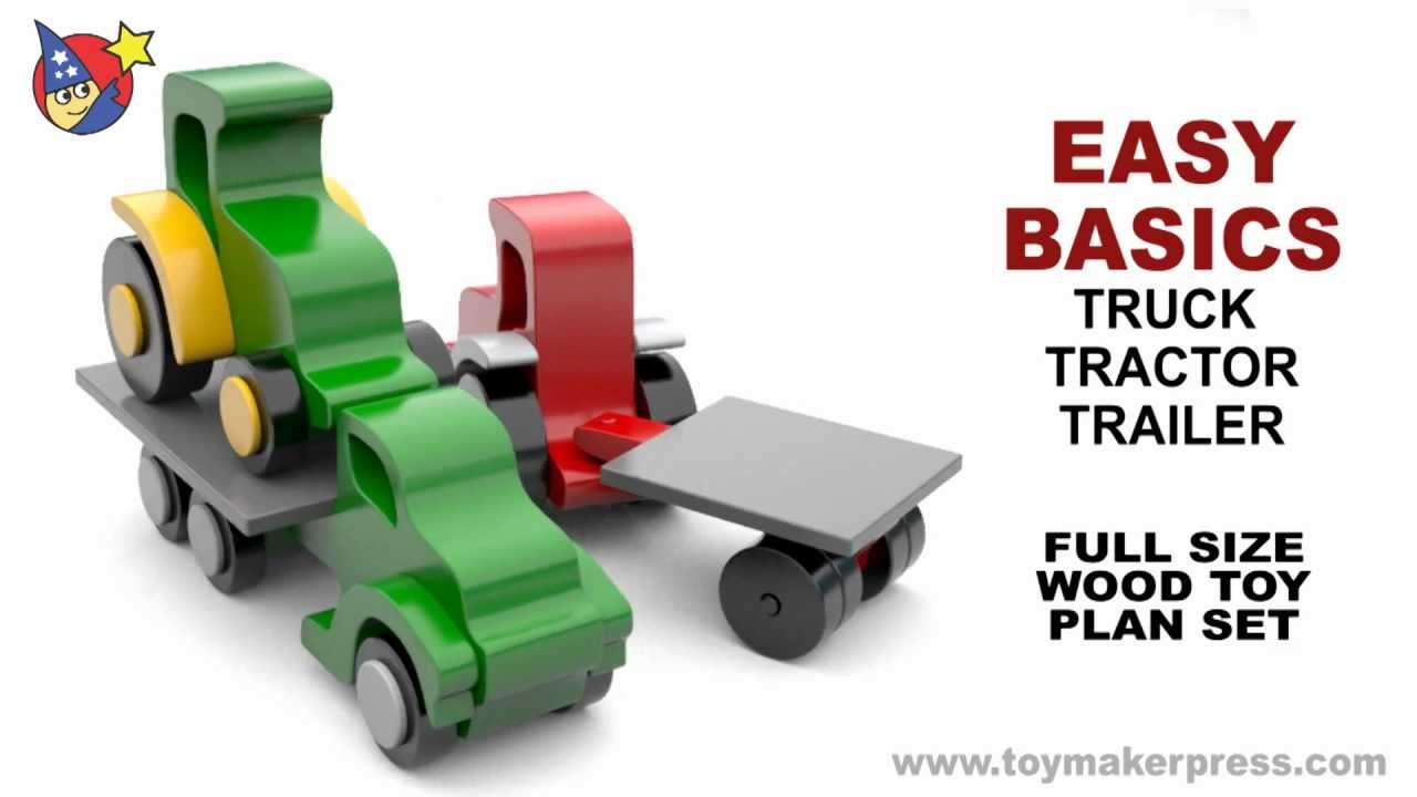 Wood Toy Plans Farmtruck Tractor Amp Trailer Youtube