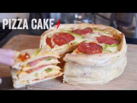 HOW TO MAKE A PIZZA CAKE