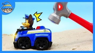 The rescue mission of the Paw Patrol Chase. Watch out for moving toy tools ~