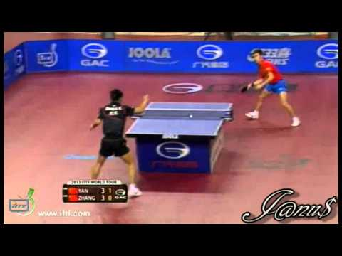 2013 Qatar Open (ms-qf) ZHANG Jike - YAN An [Full Match/Short Form]